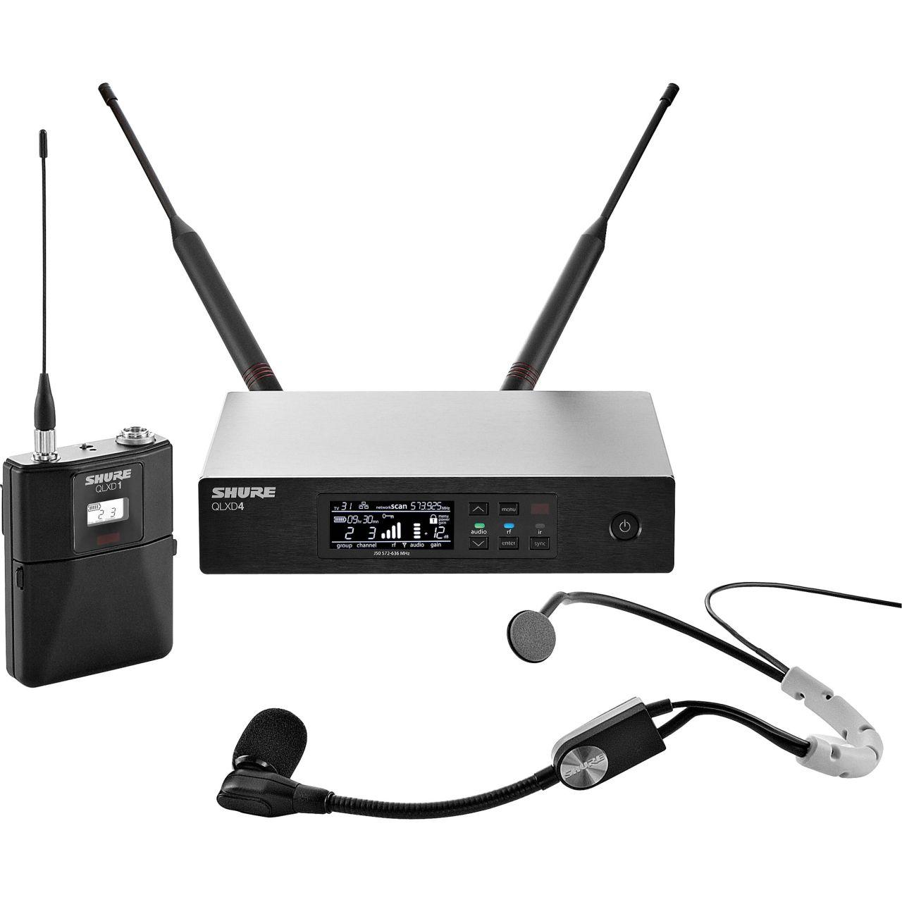 Więcej o Zestaw mikrofonowy bezprzewodowy Shure QLXD 14 / SM 35